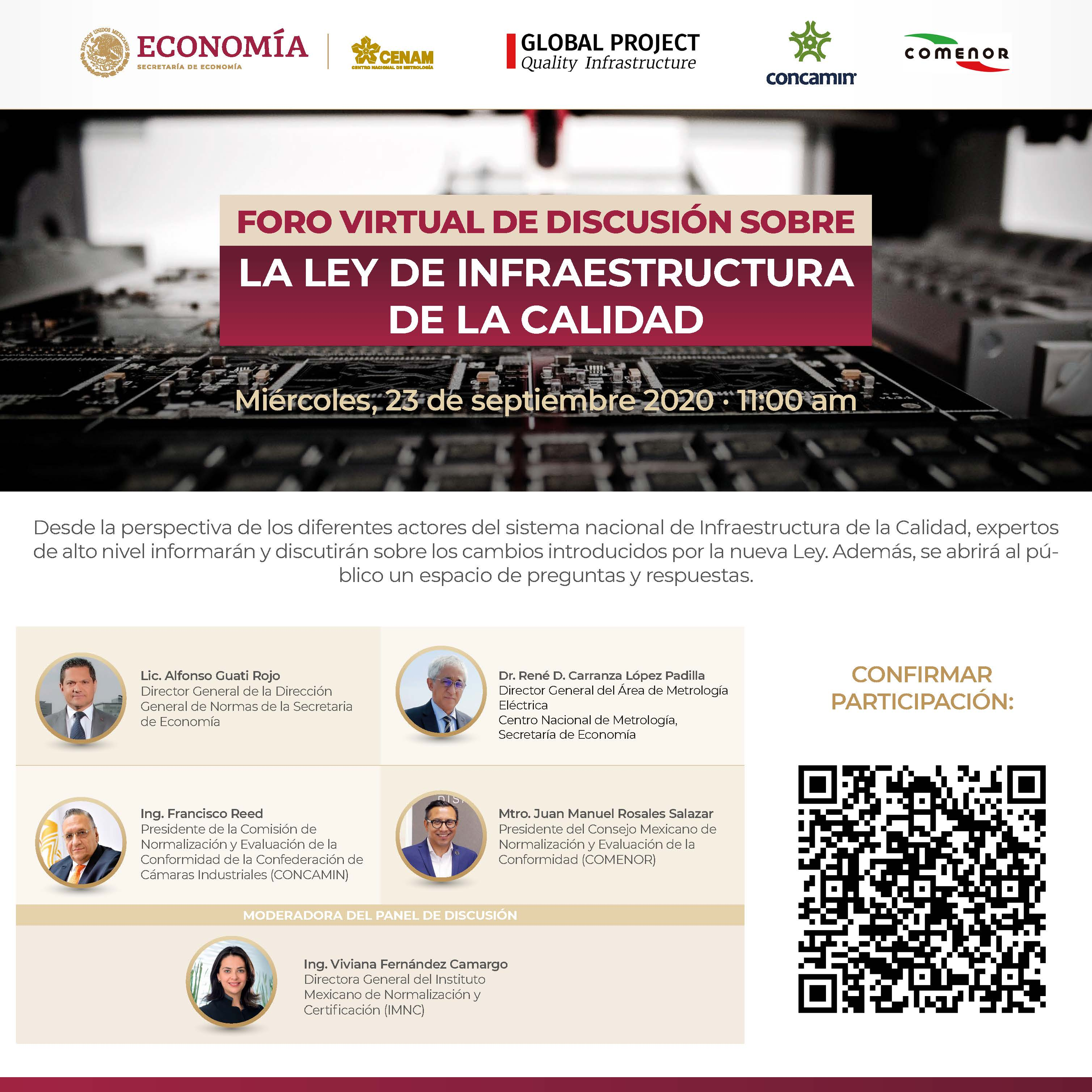 Virtual Discussion Forum on the new Mexican Quality Infrastructure Law